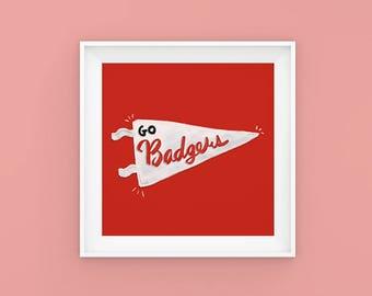 Badgers | Wisconsin | Midwest | Madison | UW Madison | Poster
