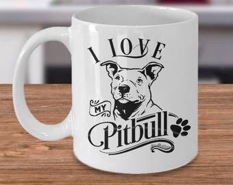Pitbull Mug - Pitbull Coffee Mug - Pitbull Gift - Pit Bull Cup - Pitbull Mom - Pitbull Dad- Cute Pitbull Mug - Pitbull Dog Lover Gift Ideas