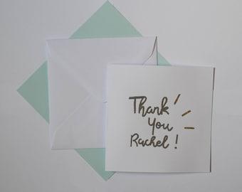 Thank You Card Pack - Custom Names
