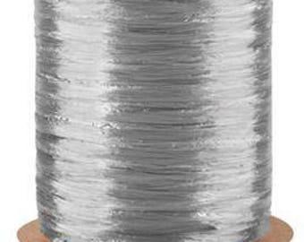 5-100 Yard Rolls-Silver Pearlized 1/2 Inch Raffia