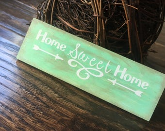 Home sweet home wooden sign / magnet