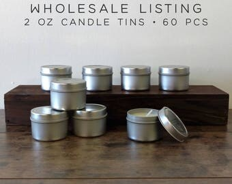 WHOLESALE CANDLES | 60 pcs | 2 oz Mini Soy Candle Tins, Soy Wax Candles, Scented Candles, Bulk Candles, Wedding Favor Candles