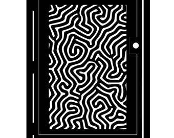 Fluid Decorative Steel Gate - Ferrofluid - Swirling Gate Art - Optical Illusion Gate - Mirage Steel Art - Optical Illusion Panel