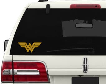 Wonder Woman Vinyl Decal, Wonder Woman Sticker, Wonder Woman Decal, Justice League Decal Sticker, Justice League, Car Decal, Wonder Woman