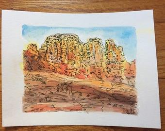Sedona arizona watercolor
