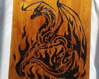 Dragon Wood Burning