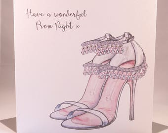 Luxury Prom Night Card - Prom Shoes for daughter granddaughter niece sister