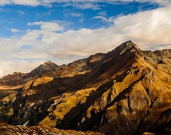 Large Alps Mountain Photography on Canvas 90cm x 60cm | mountain landscape panoramic canvas large alpenglow