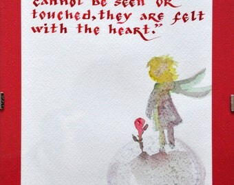 The Little Prince quote - calligraphy