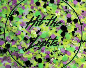 """Chunky Festival Glitter for Face & Body - """"Hit The Lights"""" Mix"""