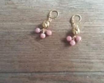 rose gold Pearl Earrings