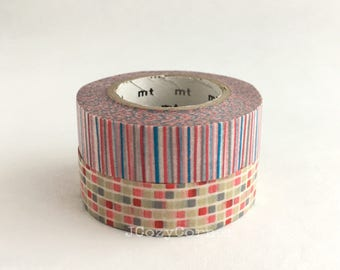 SAMPLE Washi Tape Kamoi MT Stripe & Tile