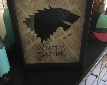 Winter Is Coming Framed Art