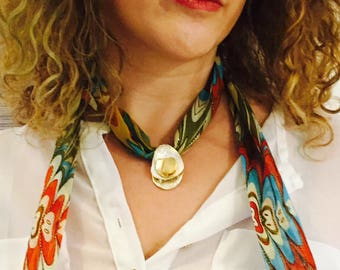 Hand made scarf neckless