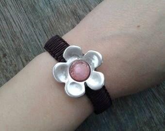 Flower bracelet vegan