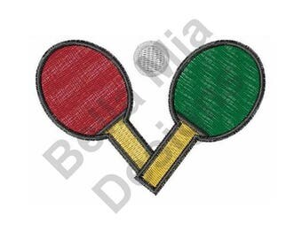 Ping Pong - Machine Embroidery Design, Ping Pong Paddles