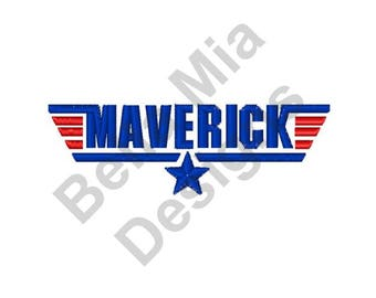 Maverick - Machine Embroidery Design, Maverick Logo