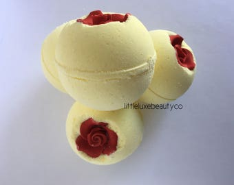 Perfectly Flawed Enchanted Rose bath bomb | beauty and the beast | bath bomb | rose | belle | enchanted rose |