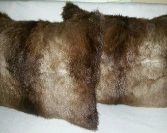 Pair of Muskrat Pillows