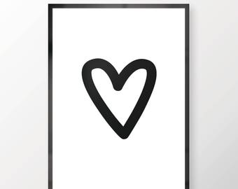 Love Heart Wall Print - Wall Art, Personal Print, Home Decor