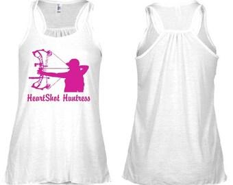 HeartShot Huntress Pink Logo Flowy Racerback