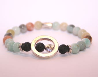 Natural Stone Diffuser Bracelet - Stretch - Lava Stone - Young Living - DoTerra - Essential Oils