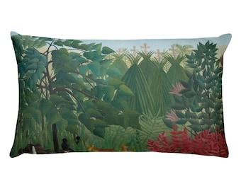 Henri Rousseau, The Waterfall - Rectangular Pillow