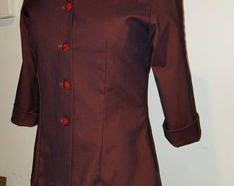 Iridescent Burgundy Suit