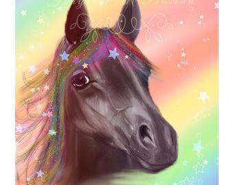 Free shipping UK - Magical Horse Print