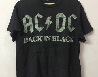SALE ! Vintage ACDC band big logo spell out Size M ( made in maxico )