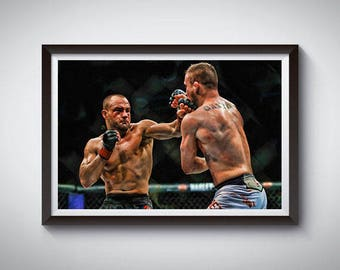 MMA Mixed Martial Arts Inspired Art Poster Painting Print 3