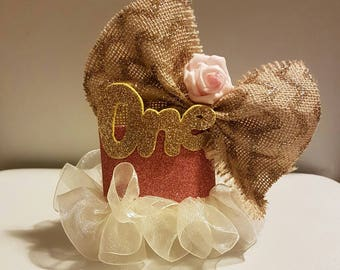 Ruffle and Bow Baby Crown