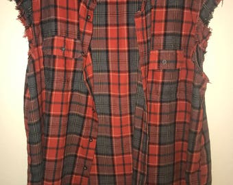Custom Sleeveless Flannel