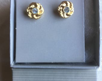 Vintage Avon Braided Sparkle Earrings