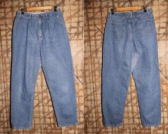 Vintage 90s High waisted LEE jeans , Lee Elastic Waist , 32 Waist Jeans , High waist Mom Jeans 90's , Vintage Lee , Plus Size Lee blue jeans