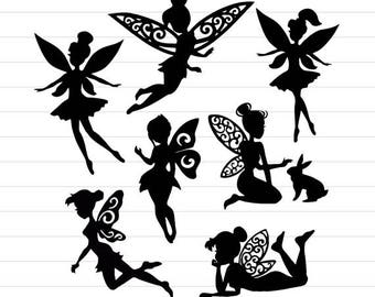 INSTANT DOWNLOAD - Fairy Svg, Fairy Silhouette, Fairy Svg Files, Fairy Clipart, Fairy Digital Cut File, Fairy SVG Cut Files, Faires Cliparts