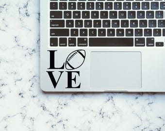 "Love - Football - Laptop Decal - Macbook Decal - Car Sticker - Car Decal - iPhone Decal - Yeti - Yeti Decals - ""Yeti Decal"""