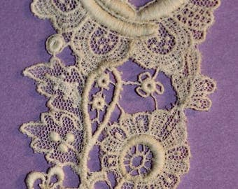 Ecru Lace Floral Applique