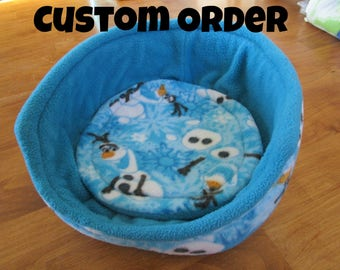 11in cuddle cup and one removable pad with two layers of U-Haul for guinea pigs, rats, chinchillas, and other small animal cages