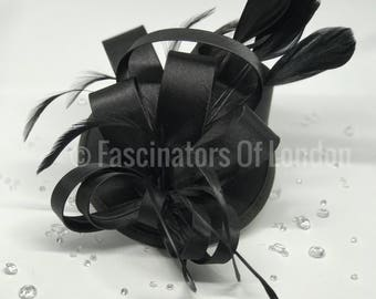 Black Satin Fascinator