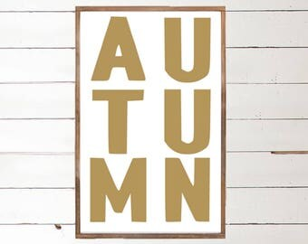 Autumn Wood Sign | Harvest Handpainted Sign | Fall Love | Autumn Wood Sign | I love Fall | Handpainted Sign | Framed Art | Farmhouse Fall