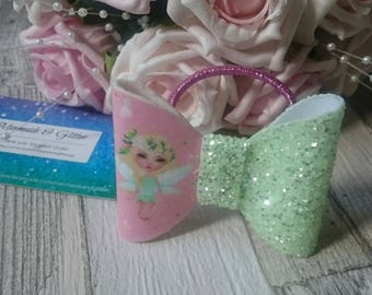 New designs glitter hair bows on bands
