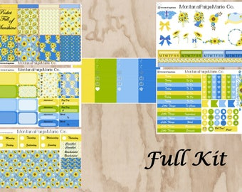 Sunshine Weekly sticker kit/ erin condren vertical/ full sticker kit