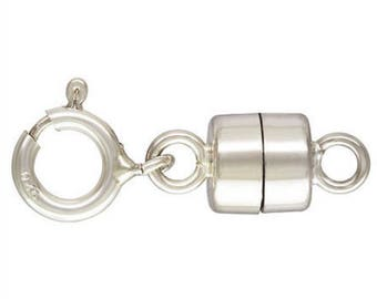 Sterling Silver 4.5mm Magnetic Clasp w/ 5.0mm Spring Ring AT (GP-5001513SR5)