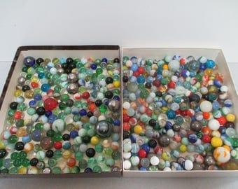 Vintage Vitro Agate Marble Huge Lot of (475) Marbles