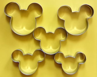 5 Size Mickey Mouse Cookie Cutter Candy Baking Set