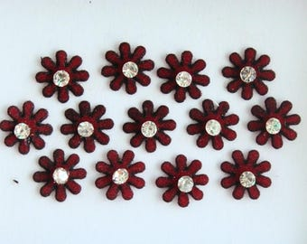 26 Marron Color Flower Round Bindis ,Round Bindis,Velvet Marron Bindis,Round Face Jewels Bindis,Bollywood Bindis,Self Adhesive Stickers Pack