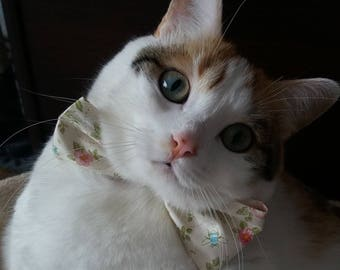 "Bow tie - Tie for cats ""Le Printanier"""