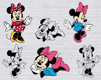 Minnie mouse svg file, Minnie mouse clip art, Minnie svg, disney svg files, minnie mouse printable, minnie mouse birthday printable art