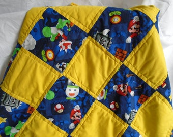 Super Mario Brothers Quilt / blanket with Mario and Luigi